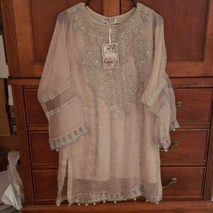 Maria B Beige Shirt and Shalwar